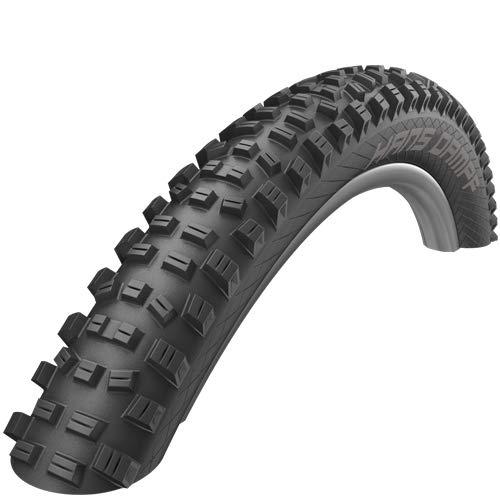Schwalbe Hans Dampf Folding Tubeless Ready Addix Performance TwinSkin 67TPI Tire, Black, 24'' x 20/35''