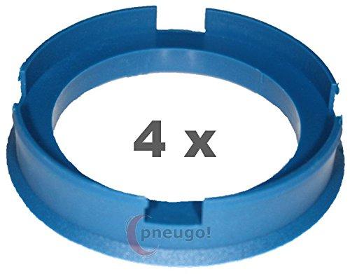 4/x Bague de Centrage en plastique 72.6/mm sur 56.1/mm Bleu