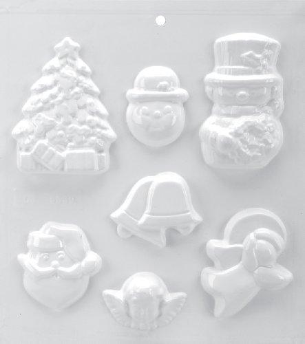 (Yaley Soapsations Soap Mold, 8 by 9-Inch, 2 Snowmen/Bell/Tree/Santa/Cherub/Angel)