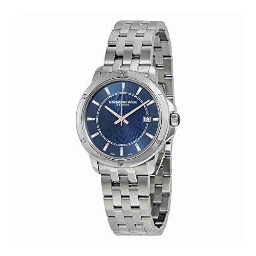 Raymond Weil Tango Blue Dial Stainless Steel Mens Watch 5591-ST-50001 (Watch Raymond Wrist Weil Date)