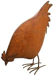 Deko de gallina Altura aprox. 30cm Metal Figura decorativa echtrost Peluche Gallina