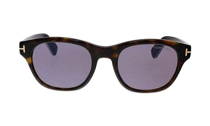 39b09d6e17b8d Sunglasses Tom Ford FT 0530 O keefe 52Y Dark Havana   Violet at Amazon  Men s Clothing store
