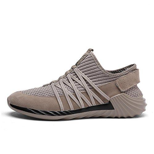 Sneakers In Mesh Da Uomo Ultra Leggere Traspiranti Scarpe Da Corsa Atletiche Grigie