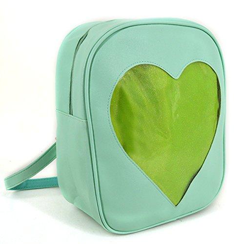 Heidi Bag Clear Candy Backpacks Teenager Ita Bag Transparent Love Heart School Bags Girls Kids Satchel by Heidi Bag (Image #2)