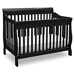Delta Children Canton 4-in-1 Convertible Crib – Easy to Assemble, Black