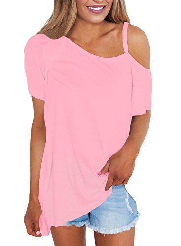 Annflat Womens Shoulder Sleeve Asymmetrical