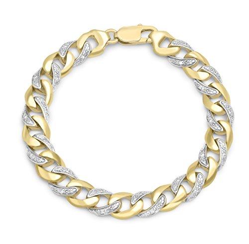 Carissima Gold Mixte  9 carat (375)  or jaune 375/1000 (9 cts) Rond   i Diamant FINENECKLACEBRACELETANKLET