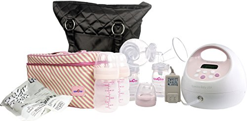 Spectra Baby USA S2 Double and Single Breast Pump Combo Set with Tote and Cooler