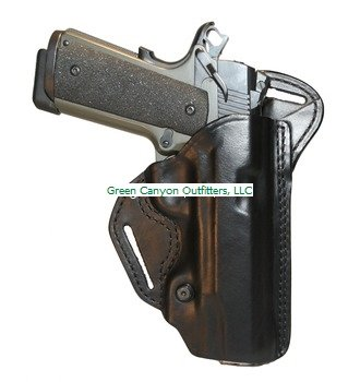 BLACKHAWK! Leather Check-Six Black Holster, Size 05, Right H