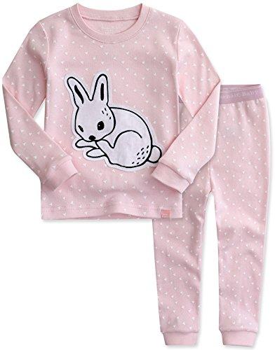 Vaenait Baby Kids Girls 100% Cotton Sleepwear Pajamas 2pcs Set Drawing Rabbit M (472 Engine)