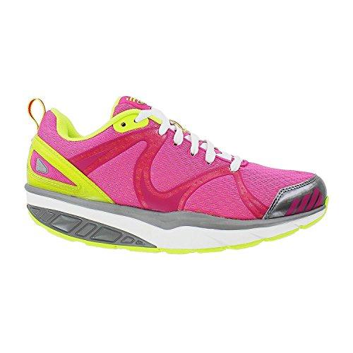 - MBT USA Inc Women's Afiya 5 Fuschia/White/Silver Fitness Walking Shoes 700670-534Y Size 11-11.5