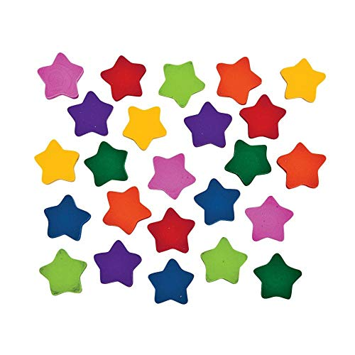 Mini Star Erasers ~ 750 Erasers Total ~ Approx. 3/4 Inch ~ New in Sealed Package.