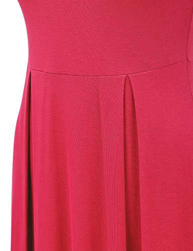 Tunic Sleeveless Womens Pullover Neck MBJ in USA Wdr1074 Dress Made coral Mock XfwqgCS