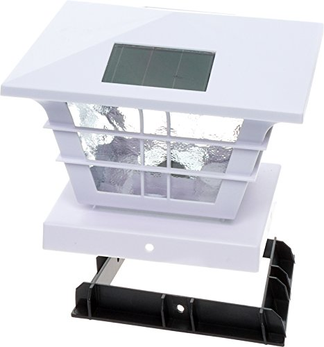 GreenLighting 5x5 Solar Post Cap Light with 4x4 Base Adapter (White, 12 Pack) by GreenLighting (Image #7)