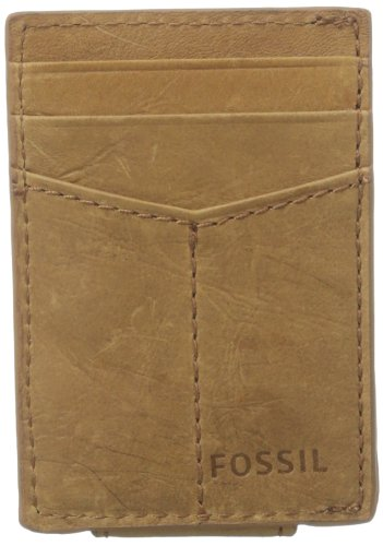 Fossil Men's Ingram Magnetic Multi-Card Wallet, Cognac, One Size