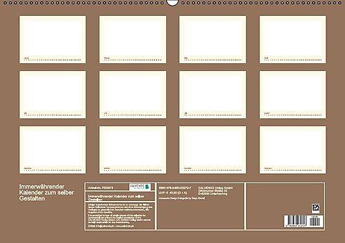 Immerwährender Kalender zum selber Gestalten Wandkalender ...