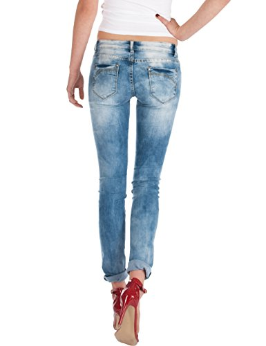 taille femme Bleu skinny Fraternel jeans basse pantalon pnqUxH