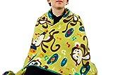Fleece throw blanket- Disco Monkeys