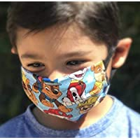 Paw Patrol Face Mask for kids and toddlers with filter pocket made of Washable Reusable 100% Cotton Fabric Made in USA