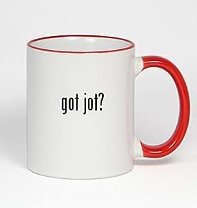 got jot? - 11oz Red Handle Coffee Mug