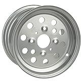 #10: 4/110 ITP Steel Wheel 11X6 4.0 + 2.0 Silver for Honda TRX 300FW 4X4 1988-2000