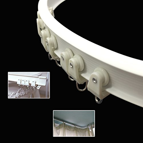 - SuperMMarK 9.8 Feet Silent Curved Curtain Orbit Balcony & Window Flexible Bendable Track Top Mounting