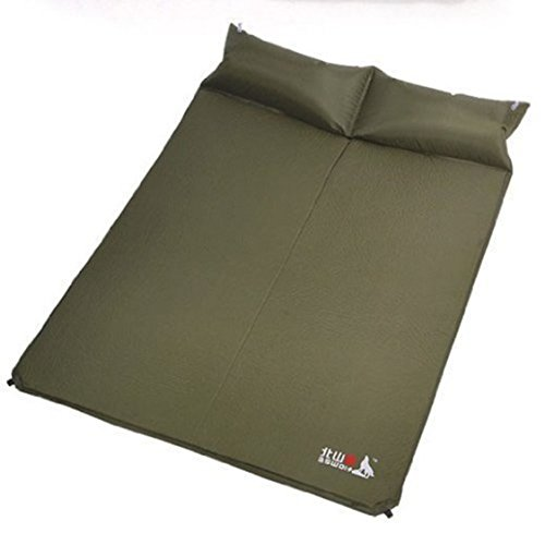 Porpora Double 2- person Self-Inflating Camping Sleeping Mat/pad, Water Repellent Coating, with Attached Inflatable Pillow