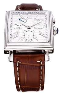 Yonger et Bresson YBH8304H-03 - Reloj para hombres, correa de cuero color marrón