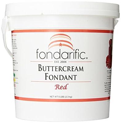 Fondarific Buttercream Red Fondant, 5-Pounds