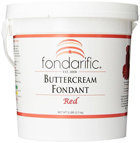 (Fondarific Buttercream Red Fondant, 5-Pounds )