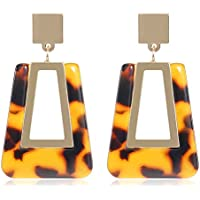 Classyzint Tortoise Shell Arcrylic Drop Earrings