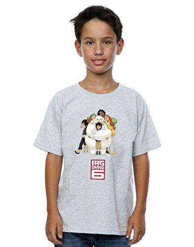 Disney 6 Hero Hug Baymax Boy gris camiseta deportiva Big 4q4PazWwT