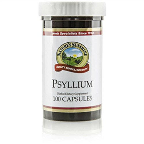 Naturessunshine Psyllium (Seeds) Intestinal System Support 600 mg 100 Capsules (Pack of 2)