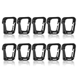 AMYIPO Tactical Molle D-Ring Clip Carabiner Multipurpose Hook Tactical Link for Molle Webbing Ring