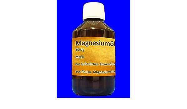250 ml de aceito de magnesio, cloruro de magnesio hexahidratado en aceite: Amazon.es: Hogar