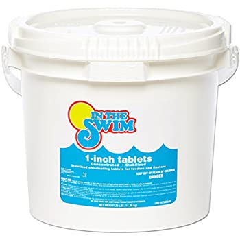 In The Swim 1 Inch Pool Chlorine Tablets 25 Lbs Garden Outdoor