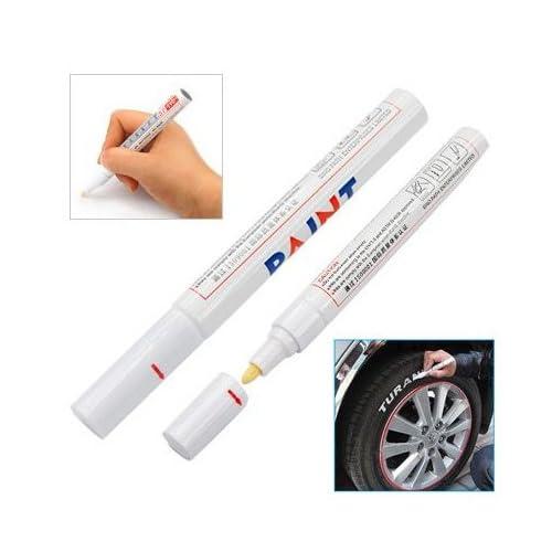 TOOGOO(R) Crayon feutre/marqueur/ pour peindre les signes sur les pneus de voiture/ blanc