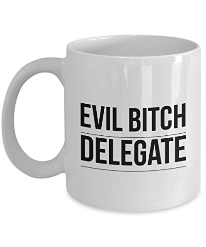 Funny Delegate 11Oz Coffee Mug , Evil Bitch Delegate for Dad, Grandpa, Husband From Son, Daughter, Wife for Coffee & Tea Lovers (Delegate Pin)