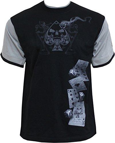 Spiral Herren T-Shirt schwarz schwarz / grau