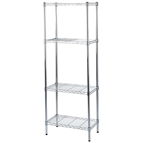 4  é tages Chrome en maille Traiteur é tagè res  –   600  mm de large x 350  mm de profondeur X 1660  mm de haut  –   120  kg par é tagè re  –   au