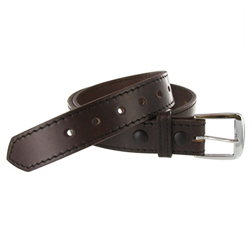 - Boston Leather 1.5in. Stitched Edge Belt 40 Brown