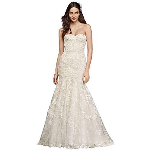 Corset Bodice Mermaid Lace Wedding Dress Style SWG755