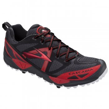 b55746f70afd0 Brooks Cascadia 9 Anthracite Red Black Trail Running Shoes Mens Size   Amazon.co.uk  Shoes   Bags