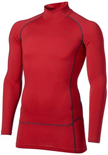 [テスラ]高機能メッシュ 長袖 ハイネック スポーツシャツ [UVカット?吸汗速乾] コンプレッションウェア メンズ