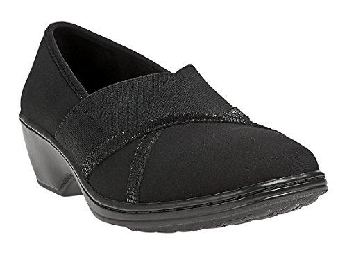 Aravon Women's Kendra Slip-On, Size: 8 Width: D Color: Black