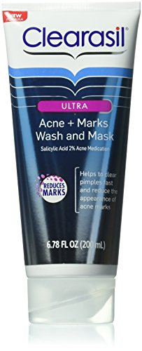 clearasil-ultra-acne-plus-marks-acne-treatment-face-wash-and-mask-678-ounce-case-of-6