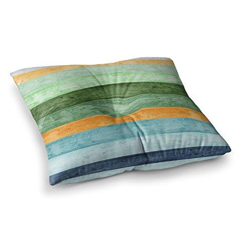KESS InHouse Monika Strigel Beach Wood Blue Square Floor Pillow x 23'' by Kess InHouse (Image #1)