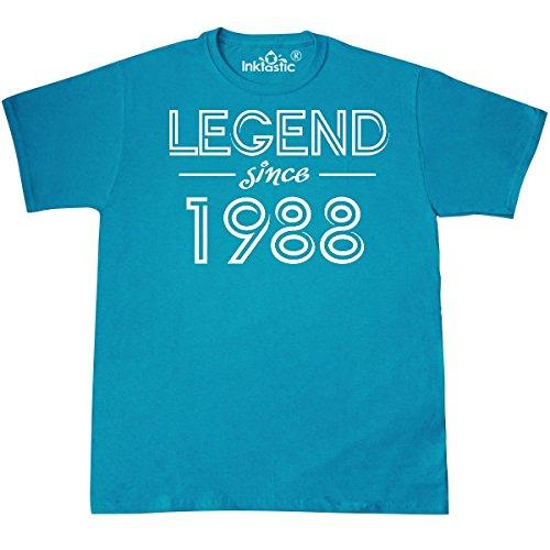 inktastic - Legend Since 1988- Birthday T-Shirt X-Large Pacific Blue 317dd ()
