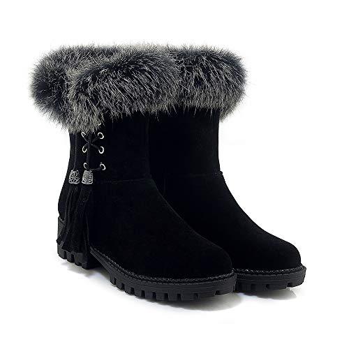 Stivaletti Black Women's E Donna Boots Da Tacco Alti Con Largo Basso 4rq4wFv5