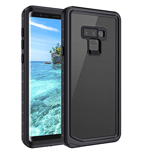 Casetego Compatible Galaxy Note 9 Waterproof Case,Underwater Cover Full Body Protective Snowproof Dirtproof Shockproof IP68 Certified Waterproof Case for Samsung Galaxy Note 9,All Black